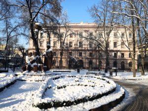 uniwersytet Iwano-Frankiwsk zimą