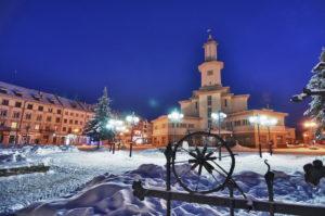zima w Iwano-Frankiwsku